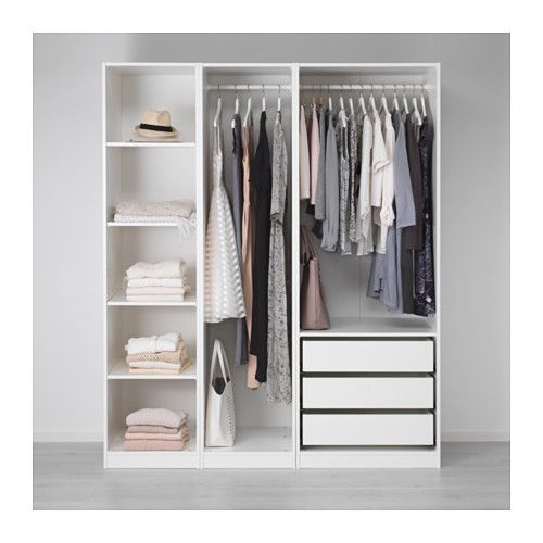 Pax Armoire Penderie Blanc 175x58x201 Cm Armoire Penderie Decoration Dressing Et Amenagement Dressing