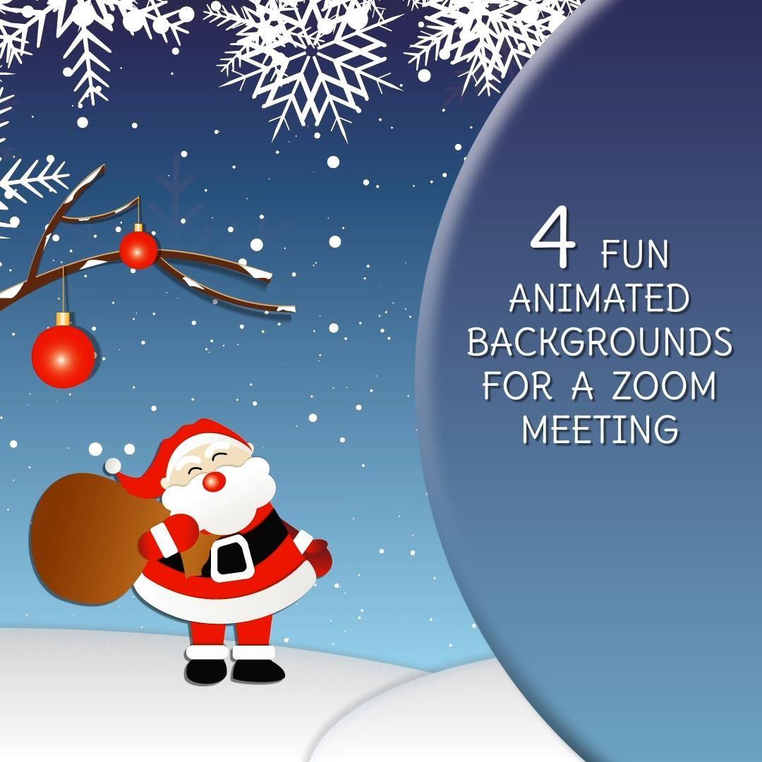 4 Funny Christmas Zoom Backgrounds Christmas Video Zoom Christmas Card Animated Video Background Work Desk Zoom Background Video Video Christmas Gif Christmas Humor Animation Background