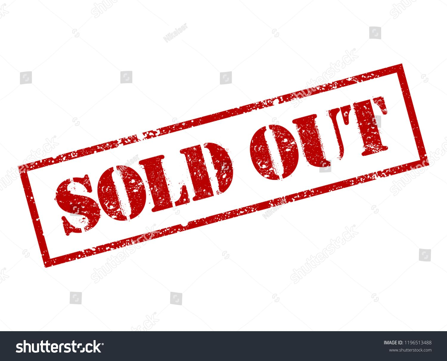 Sold Out Red Square Grunge Stamp Isolated In White Background Sold Stamp Finale Grand Sale Over Sold Out Sign Vector Template Sold Out Sign Art Logo Grunge