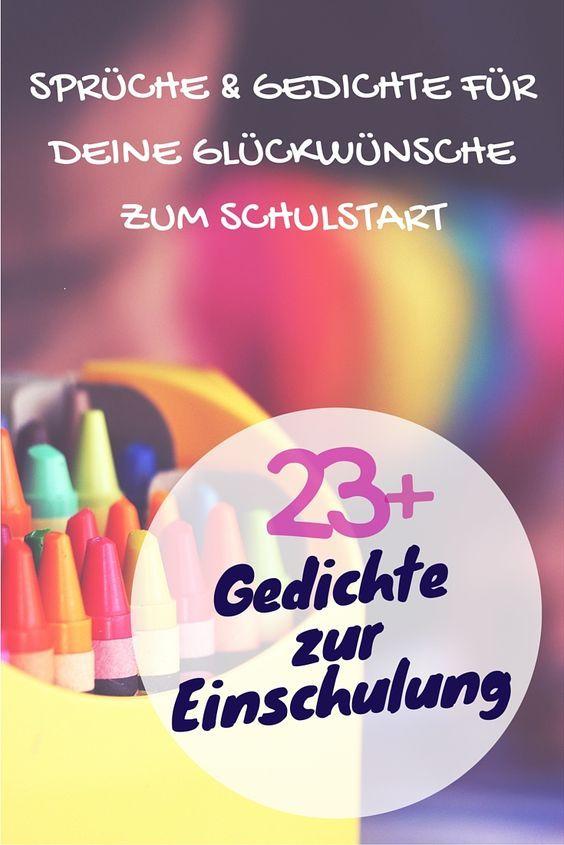 Sprüche zur Einschulung - Glückwünsche & Gedichte zum ...