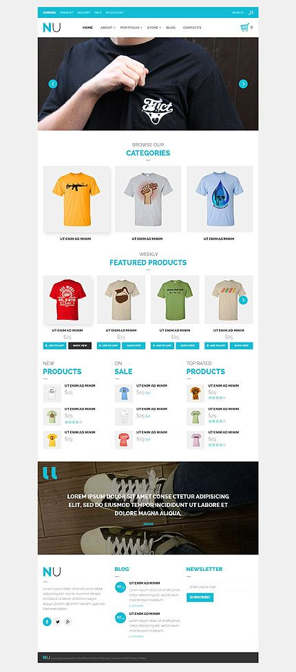 Woocommerce Template | T Shirts Online Store Woocommerce Template Themes Business