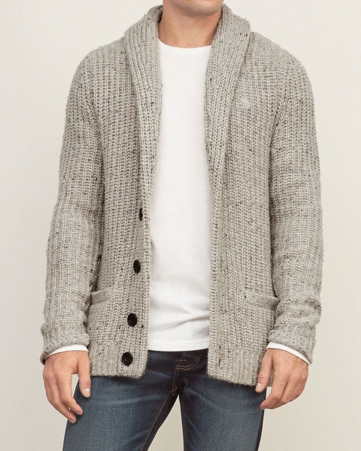 Mens - Shawl Cardigan Sweater | Mens - Sweaters | eu.Abercrombie ...