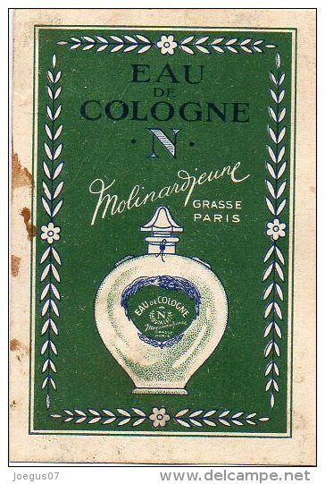 Eau de Cologne N - Molinard Jeune - GRASSE - PARIS - Pub au verso ...