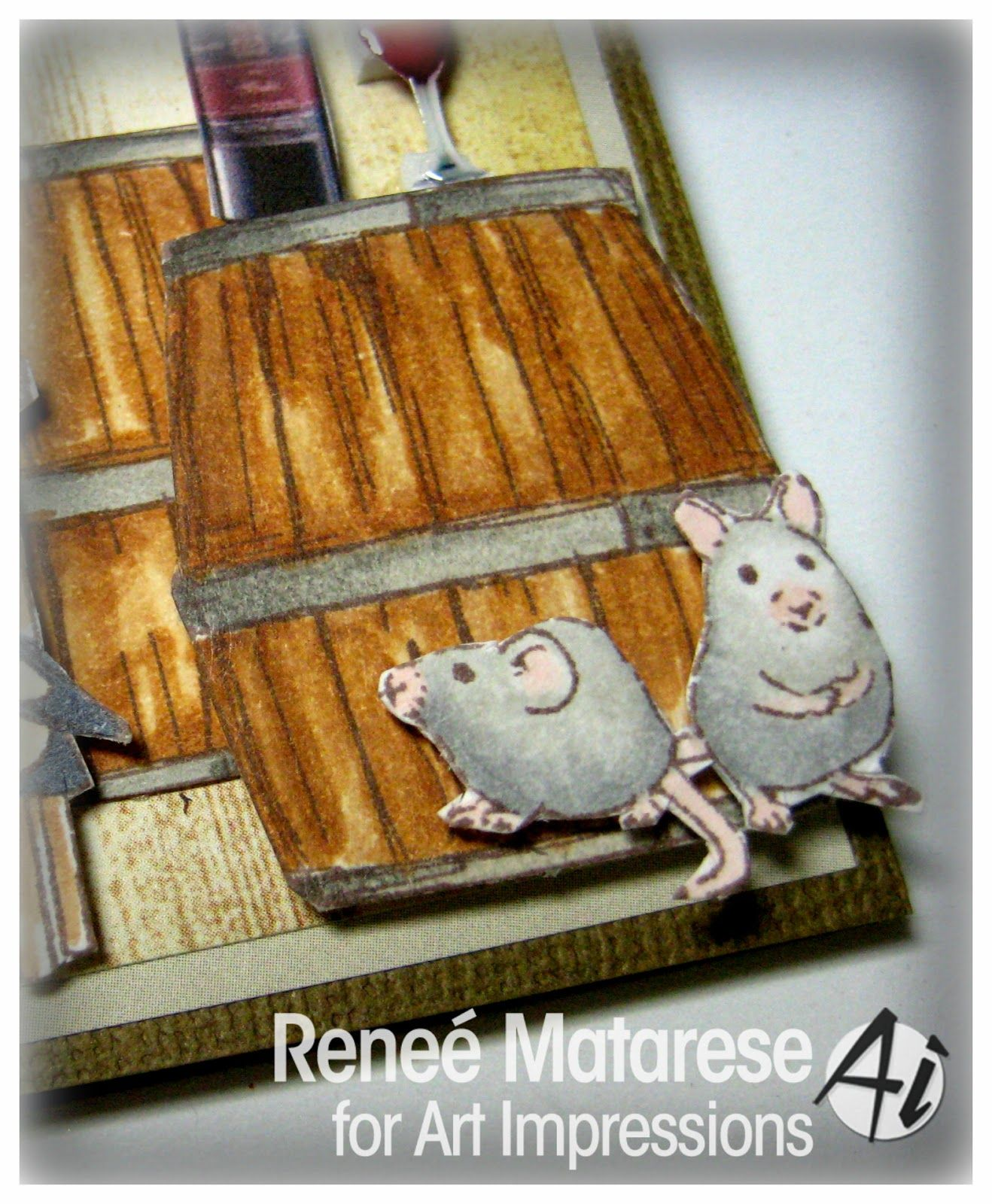 Art Impressions Blog: Girlfriends Wine Tasters by Reneé Matarese
