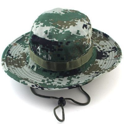 44e03c8d215 Bucket Hat Boonie Hunting Fishing Outdoor Men Cap Washed Cotton NEW W   STRINGS RL23-0007