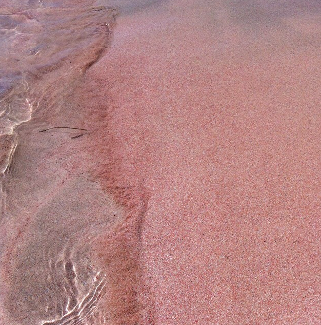 Pink Sand Of Elafonisi Beach In Crete The Sands Are White Is