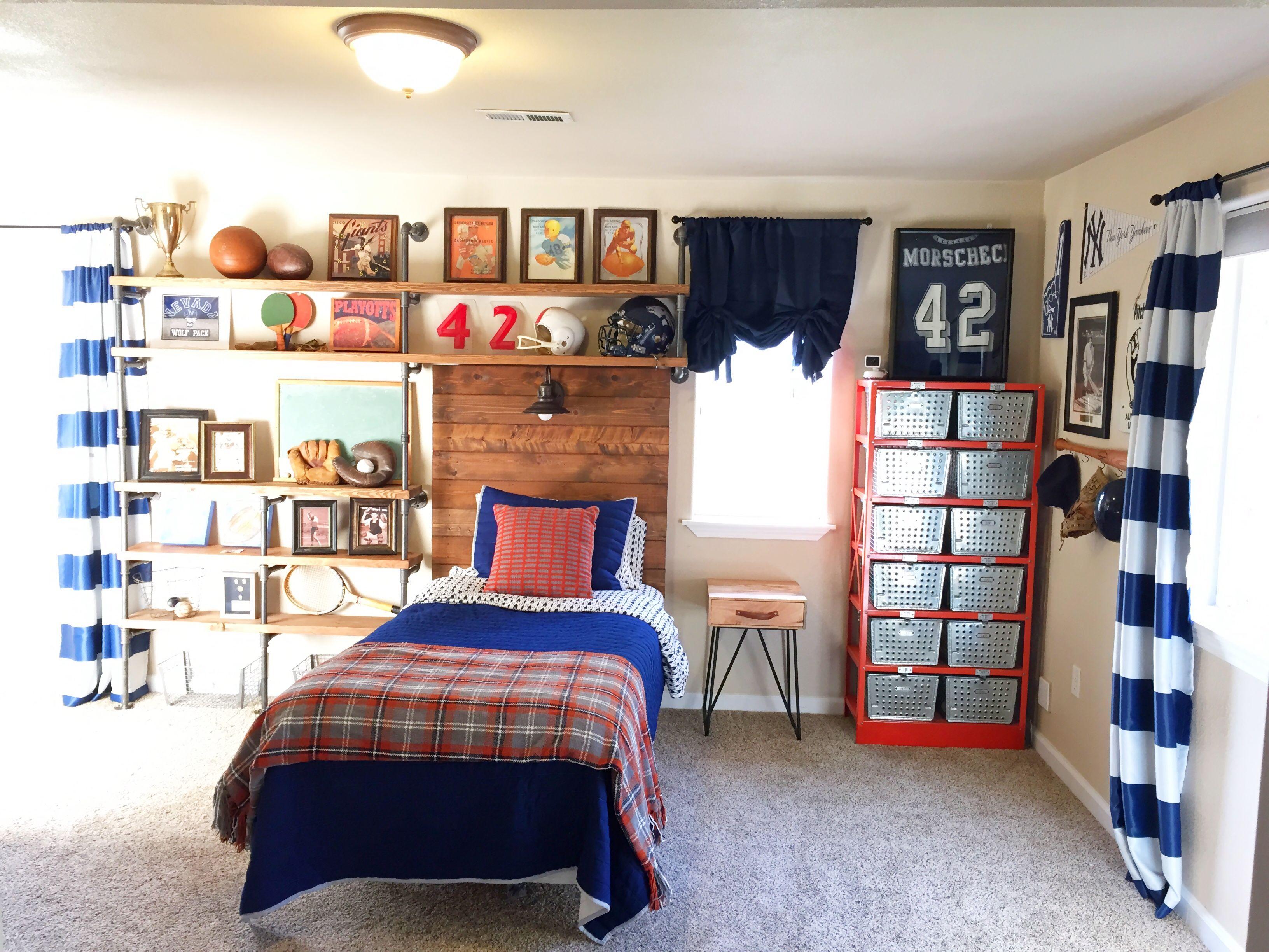 Vintage sports themed bedroom ladyus little loves vintage sports