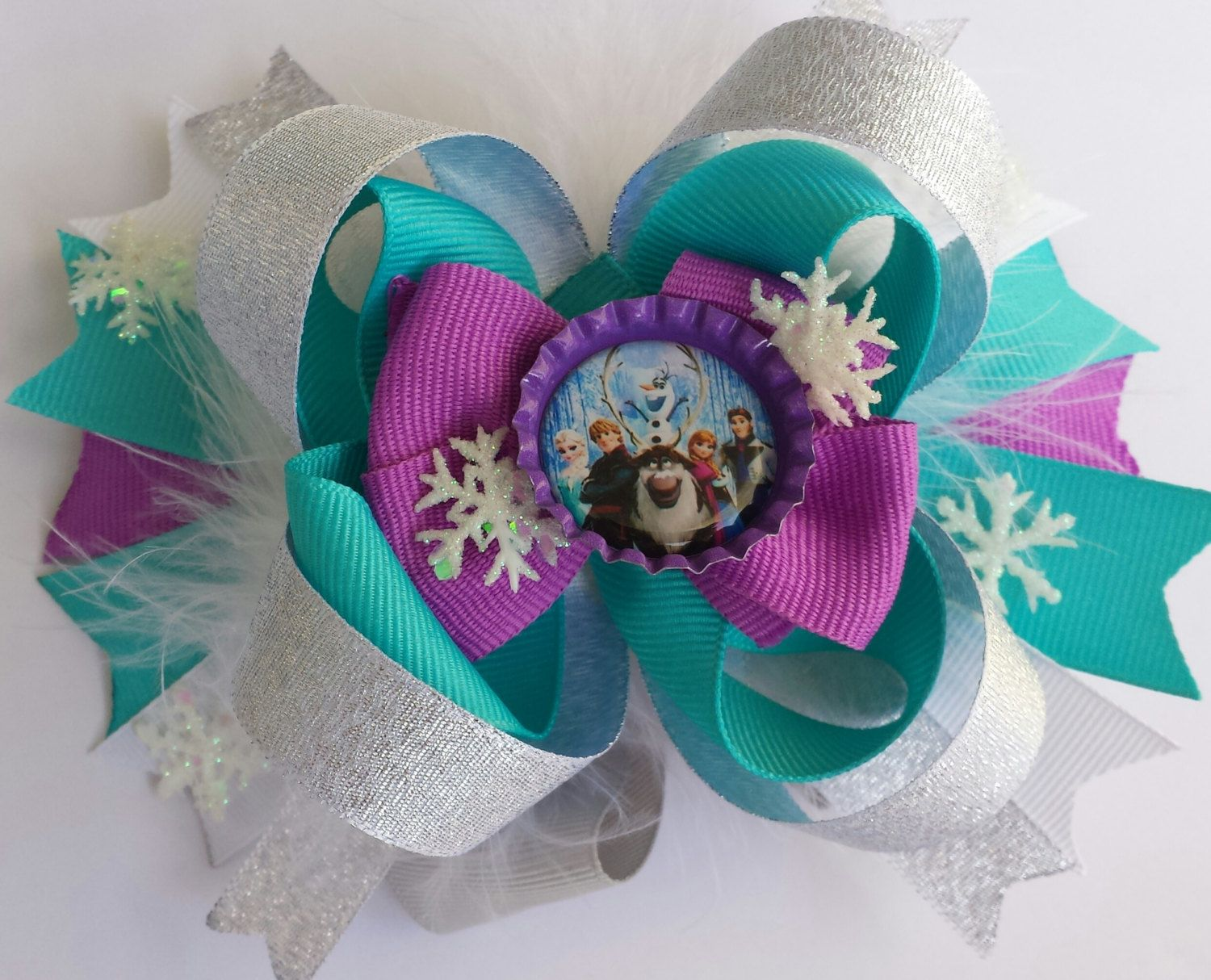 Disney\'s Frozen stacked boutique style hair bow by MelasTrendyBows ...