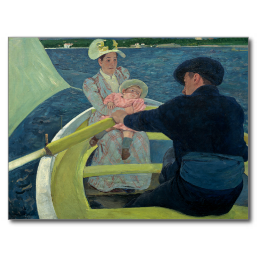 The Boating Party by Mary Cassatt Post Card