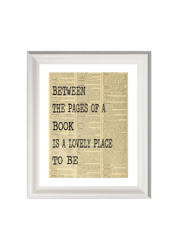 Book art print- books wall art- book quote print- gift for book ...
