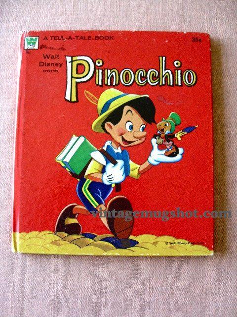 Pinocchio Walt Disney Book 1961 Tell A Tale Orig Hardcover Exc