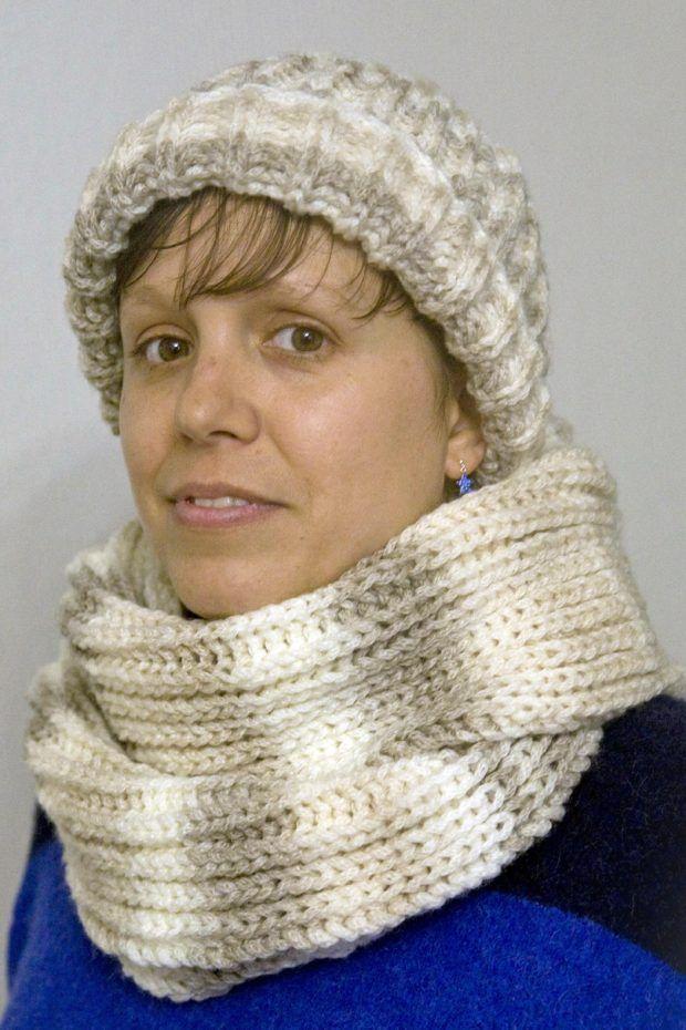 Tutorial fácil para tejer un gorro y una bufanda infinita ...