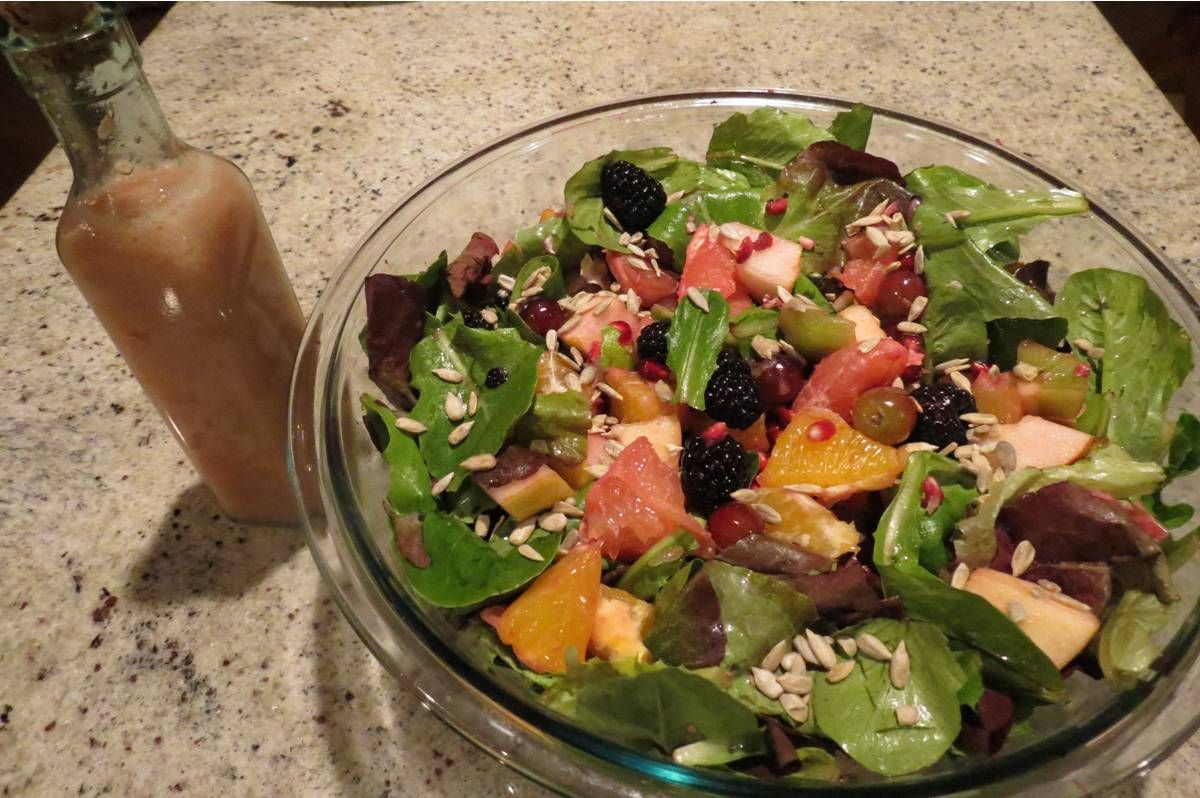 Fruit and seed salad from Gluten-Free and Glorious, one of my upcoming cookbooks