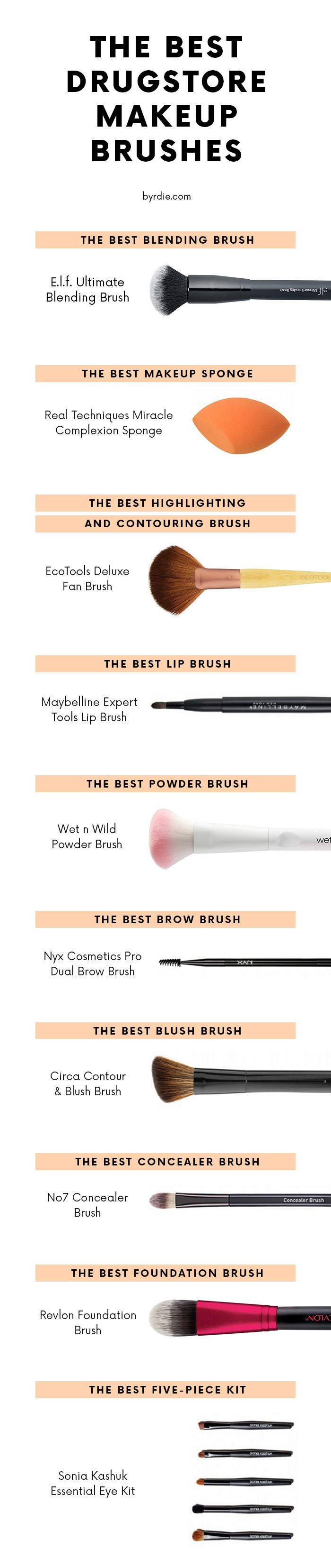 The 12 Drugstore Makeup Brushes That Will Never Let You Down Best Drugstore Makeup Best Makeup Products Drugstore Makeup