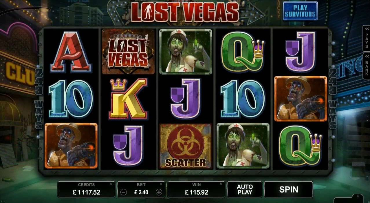 Lost Vegas, a new zombiefilled slots at Vegas Paradise