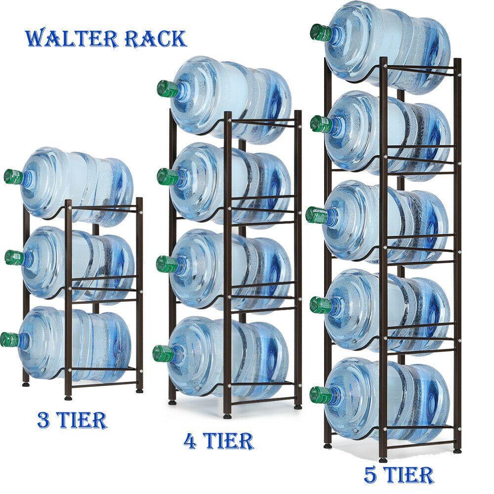 3//4//5 Tier Water Bottle Storage 5 Gallon Buddy Rack Shelf System Home Office