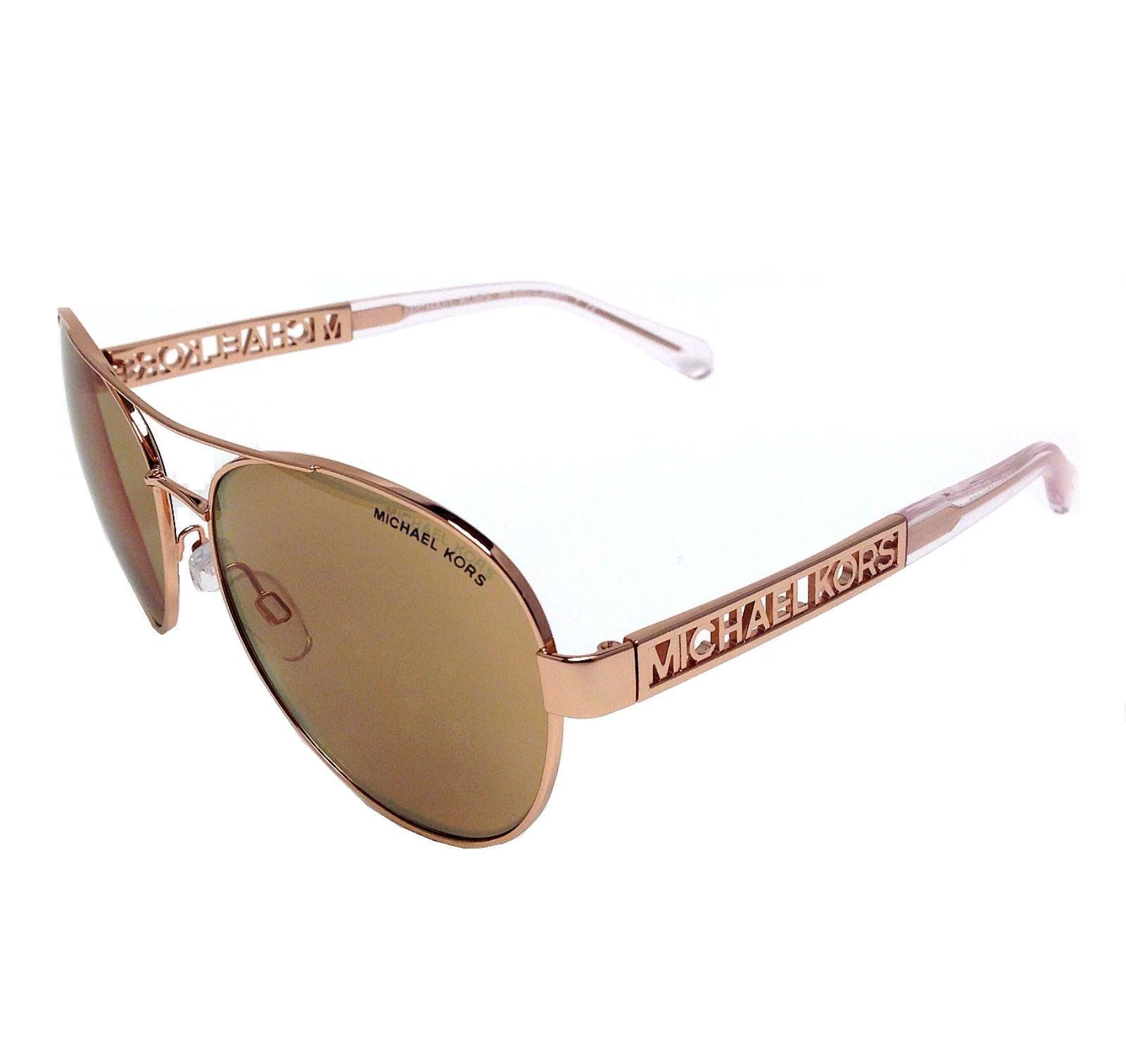 Michael Kors MK5003 1003R1 Rose Gold Rose Gold Flash 60mm Sunglasses 99ab8fa98a13