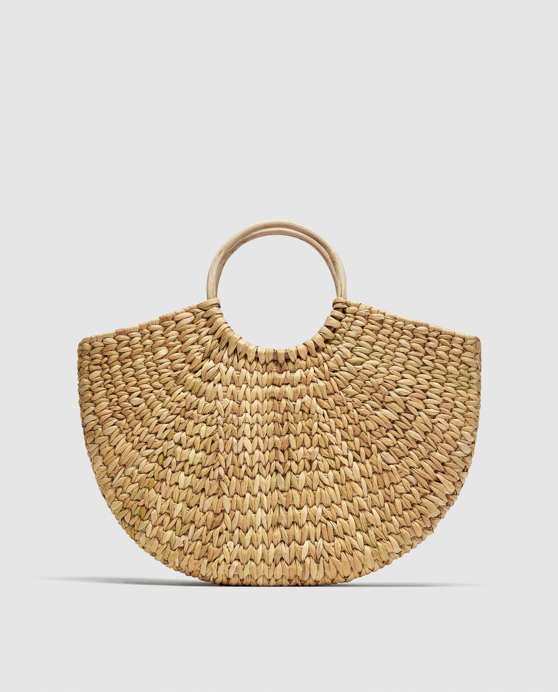 Image 2 of STRAW BAG WITH ROUNDED HANDLES from Zara  36ce1166f871f