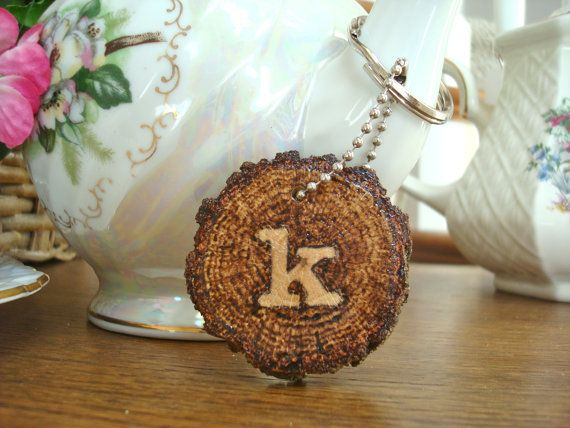 Personalized Keychain Rustic Wood Wood Burned by SweetHomeWoods, $10.00