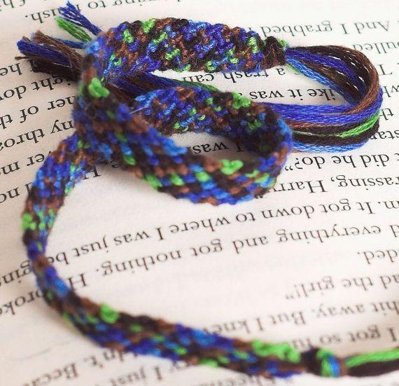 Rag Rug Style Macrame Bookmark Friendship Bracelet By