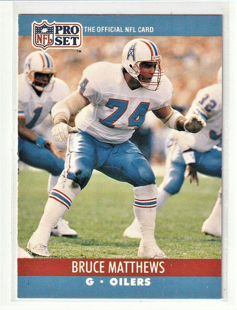 Football sports cards bruce matthews bruce matthews
