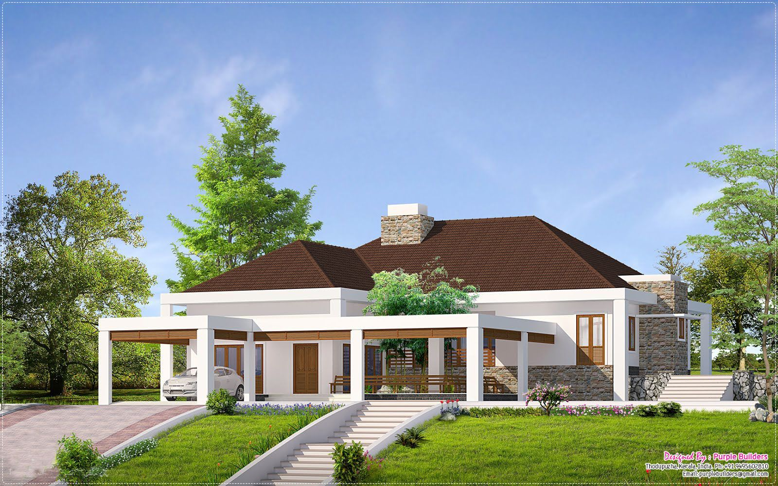 Beautiful Farmhouse In Kerala Kerala Map Kerala Beautiful Single Story Houses Contemporary