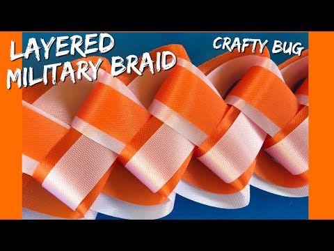 Layered MILITARY BRAID TUTORIAL; homecoming mum braids and chains - YouTube #homecomingmumsdiy