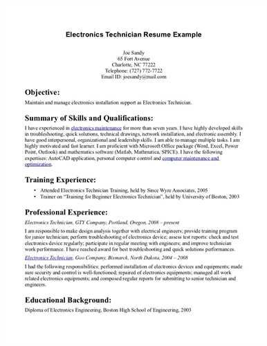 cable technician resume example preview pharmacy sample amp - electronics technician resume samples