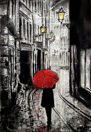 "Saatchi Art Artist LOUI JOVER; Drawing, ""the delightful walk"" #art"