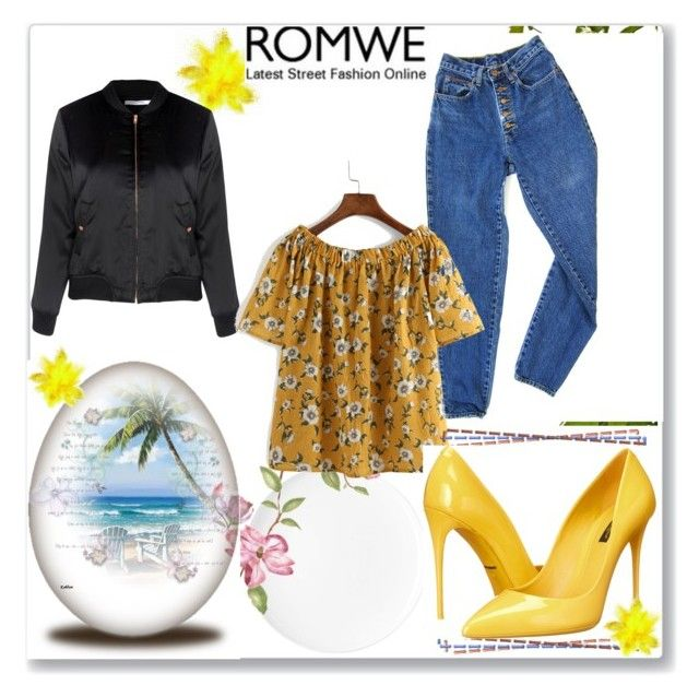 """""""Romwe"""" by ala-ad-alid ❤ liked on Polyvore featuring PèPè, Glamorous and…"""
