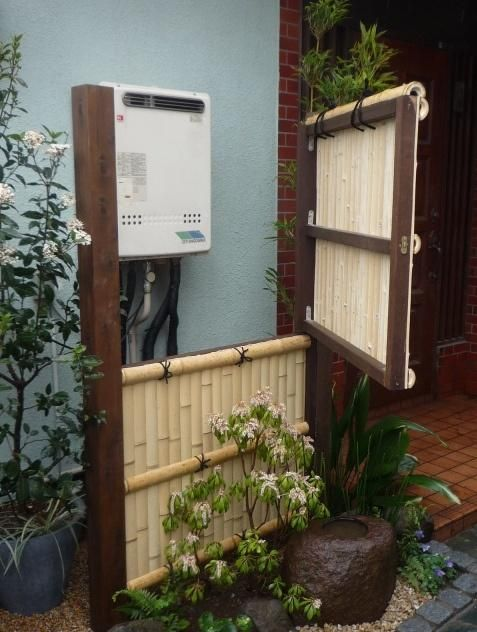 Water Heater Fencing Water Heater Cover Electrical Box Cover Japanese Garden