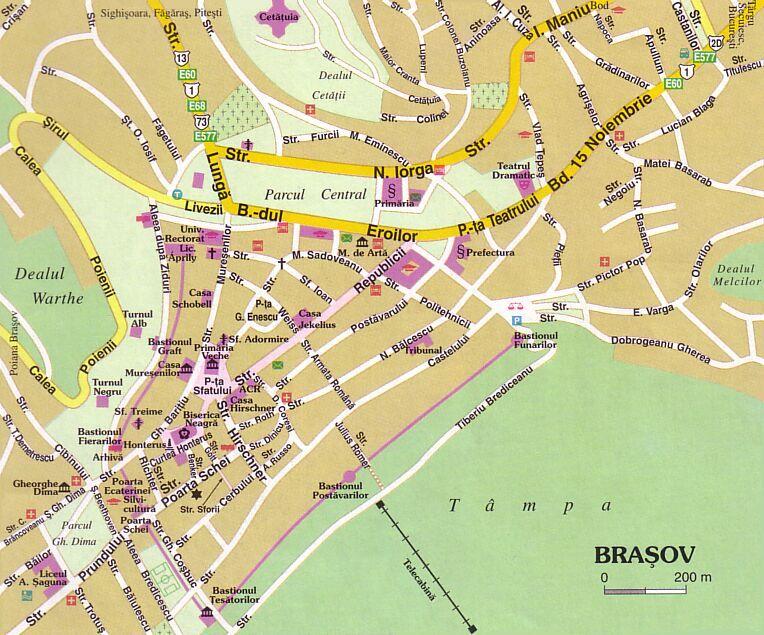 Harta Strazi Brasov Harta