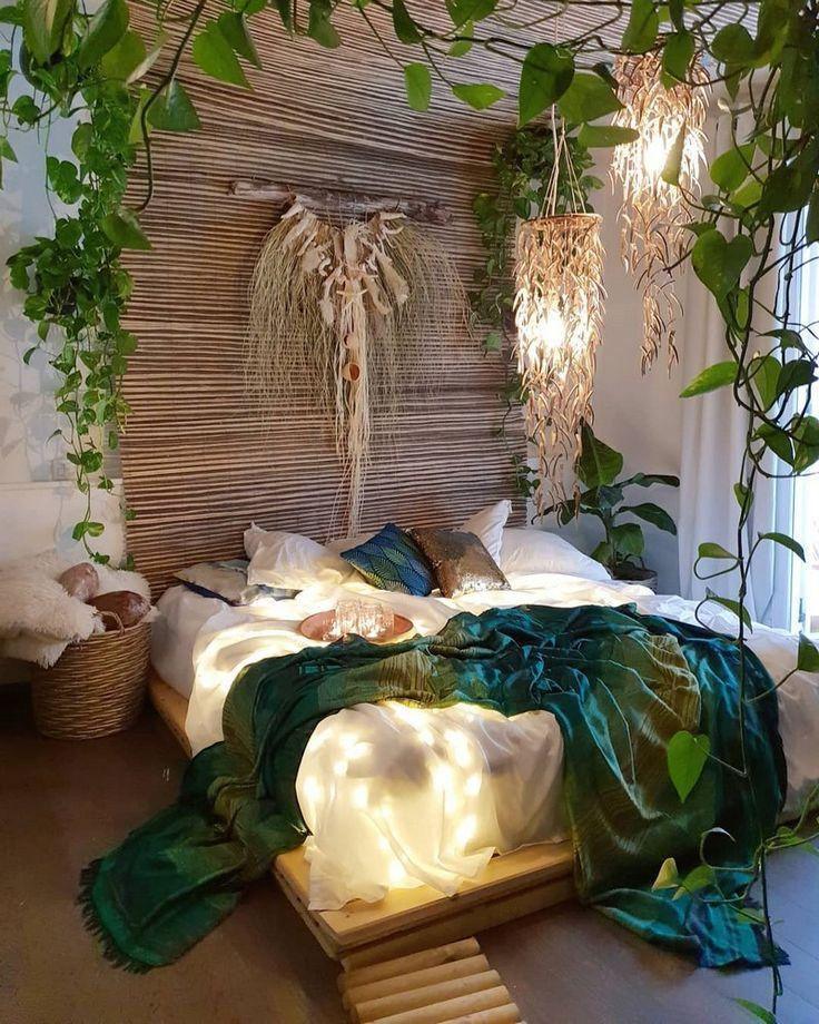 Böhmisches Schlafzimmer- und Bettwäschedesign #bohemianbedrooms