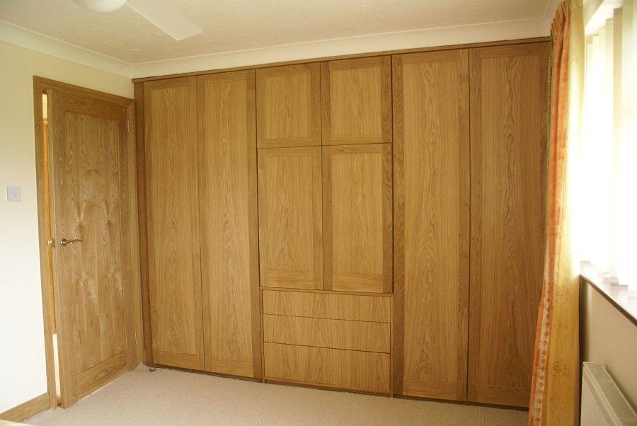 Oak Shaker Wardrobes With Concealed TV Cabinet