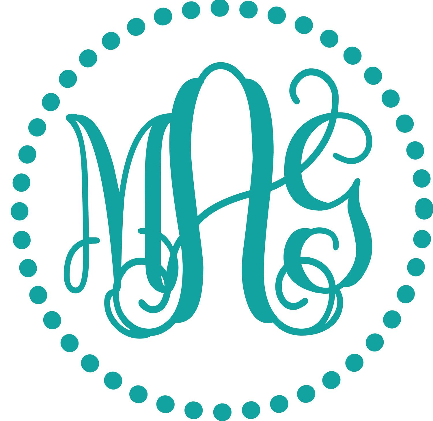 Free monogram fonts for vinyl image results for Free monogram template