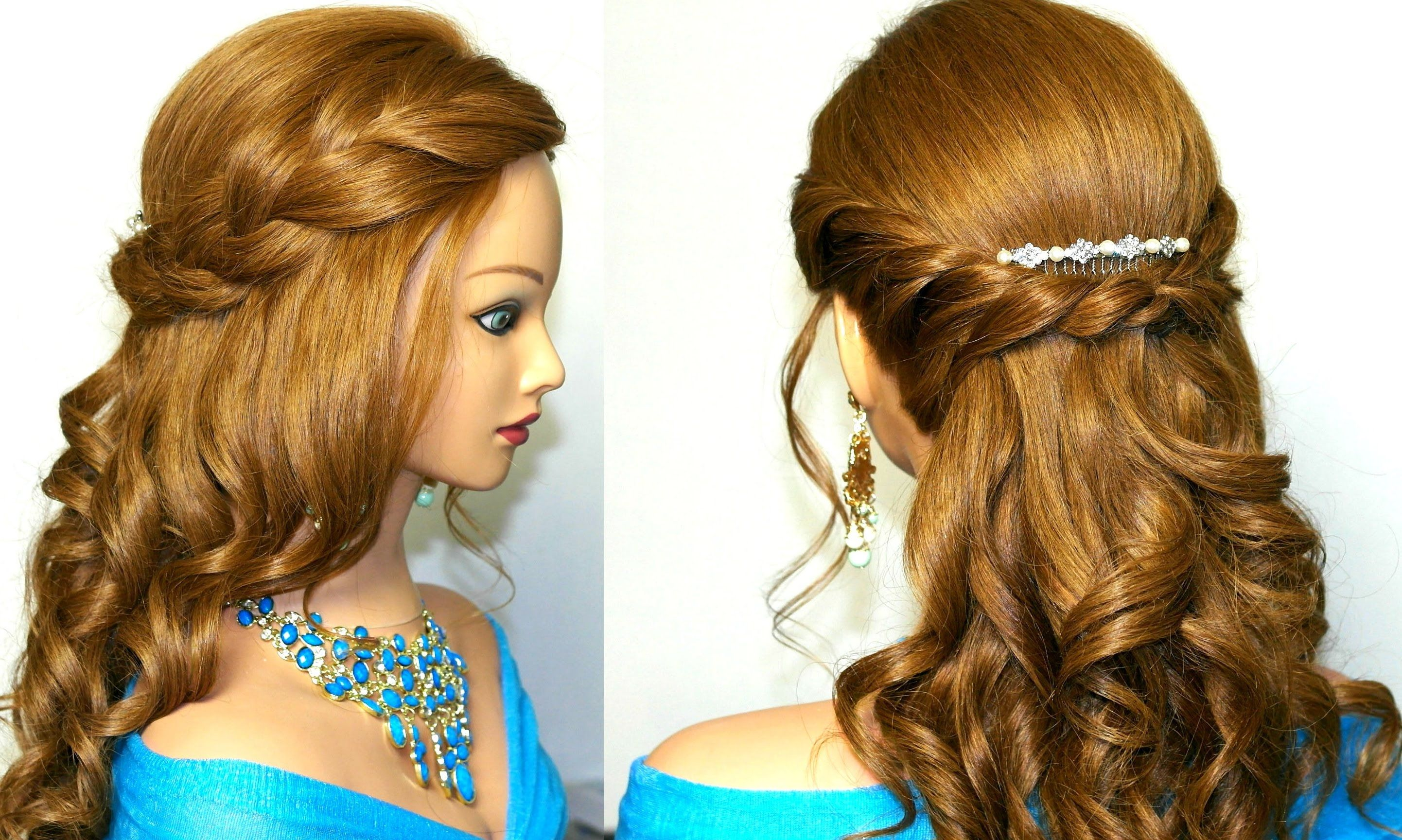 Curly Romantic Prom Hairstyle For Medium Long Hair Sac