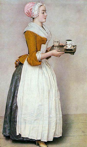 Jean-Étienne Liotard (1702–1789) Title La Belle ChocolatièreThe Chocolate Girl Date from 1743 until 1745