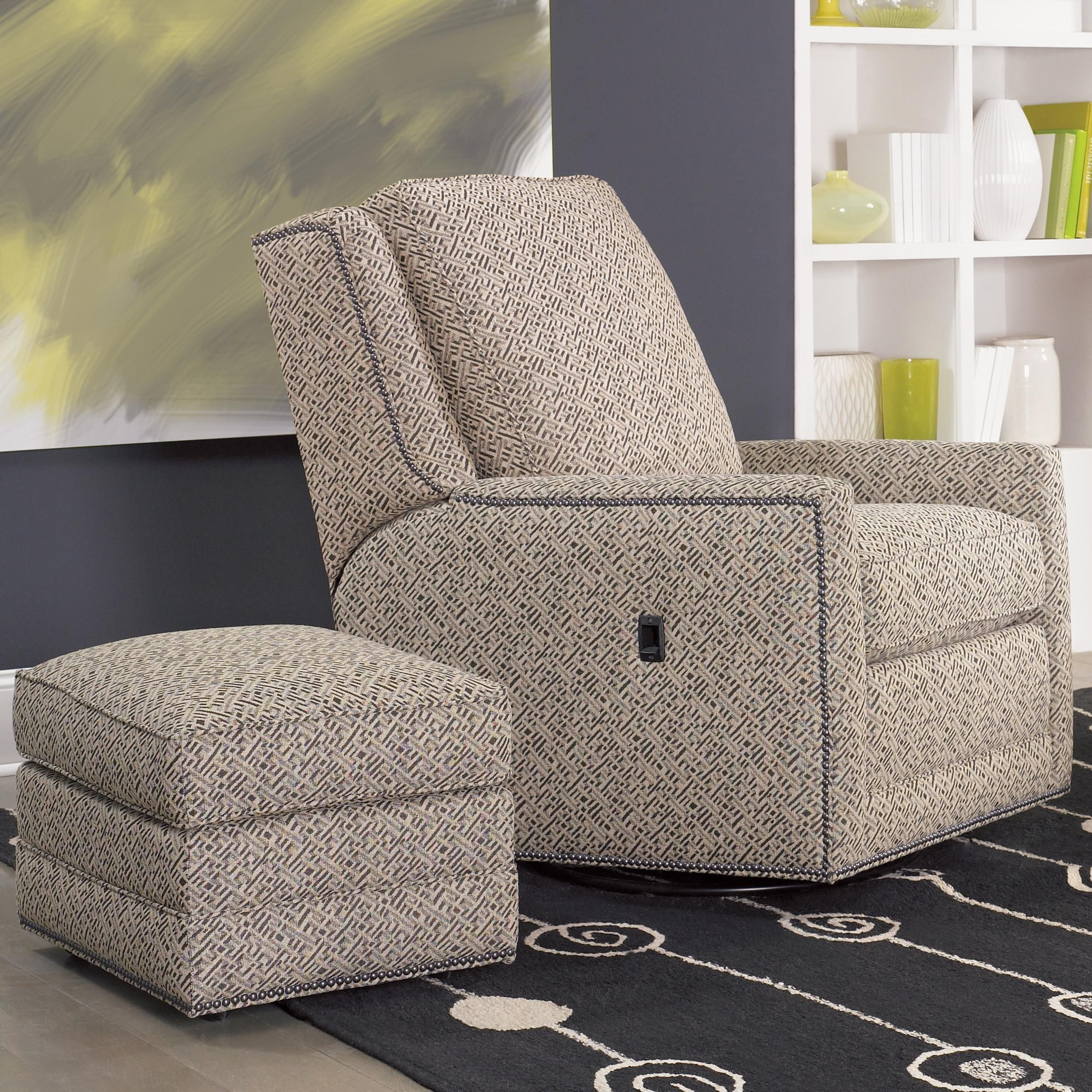Bon Recliners Swivel Tilt Back Chair And Ottoman By Smith Brothers