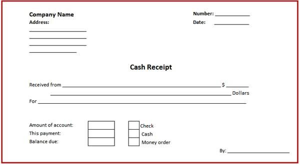 25 Cash Receipt Template Word Doc Example Document Template