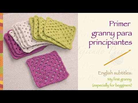 Crochet granny for beginners! (back to basics) / Primer granny ...