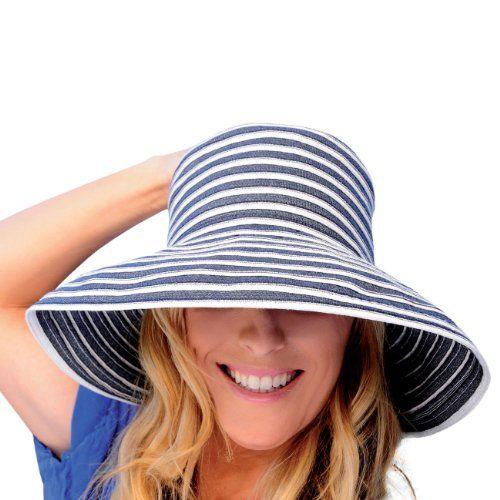 ffe7172aec9 Upturn Universal Ladies Sun   Beach Hat (Navy   White) Kooringal ...