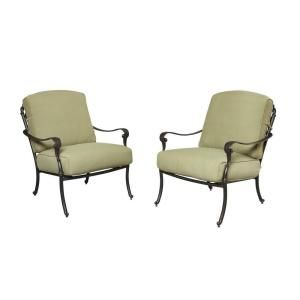 Hampton Bay Edington Cast Back Pair of Patio Lounge Chairs 141-034-LC2 at The Home Depot - Mobile