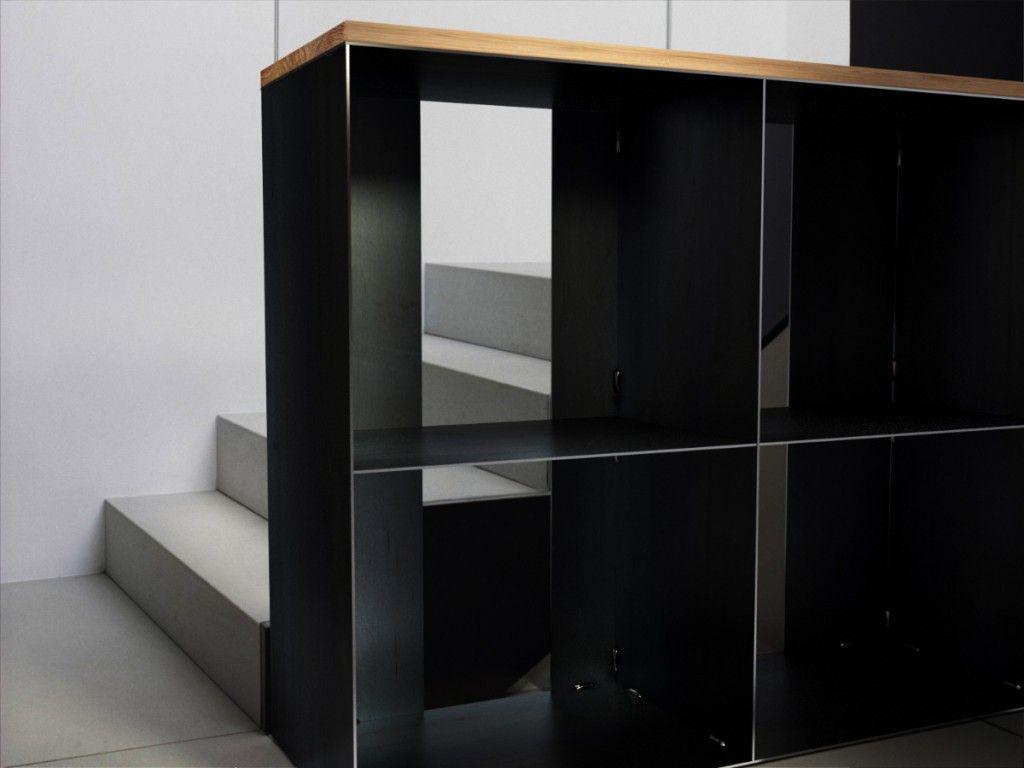 gro es kaminholzregal f r innen rohstahl mit eiche stahlm bel pinterest holz holz stahl. Black Bedroom Furniture Sets. Home Design Ideas