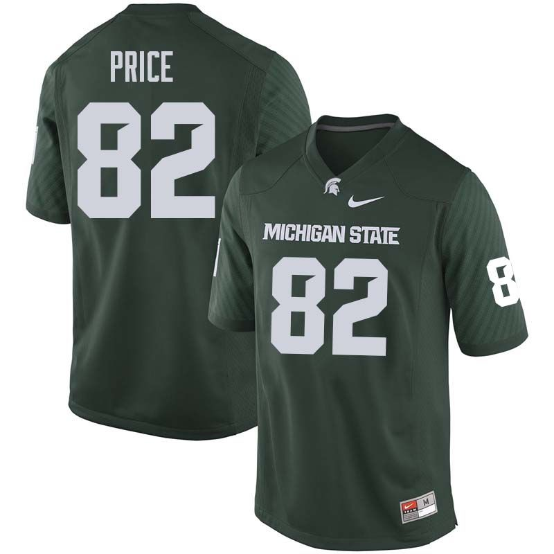 Men  82 Josiah Price Michigan State College Football Jerseys Sale-Green ed73d3375