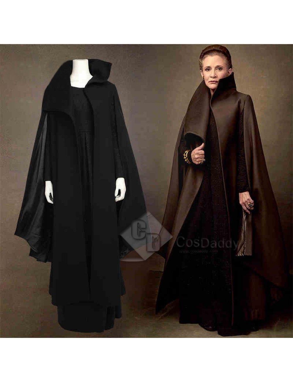 Star Wars Episode VIII The Last Jedi Princess Leia Organa Solo Cosplay Costume