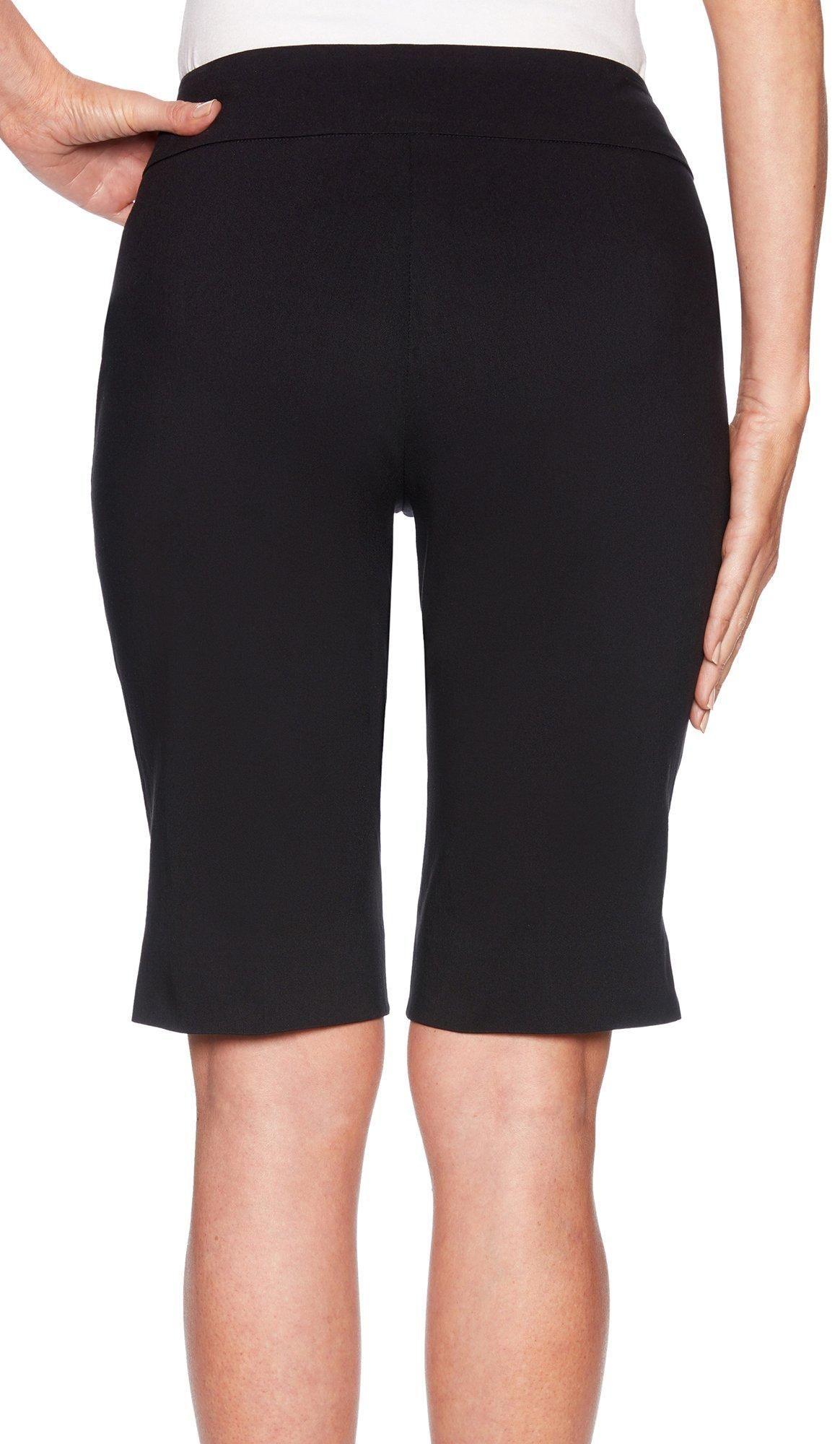 Ruby Rd Ruby Road Favorites Womens Solid Stretch Bermuda Shorts Walmart Com Bermuda Shorts Women Casual Dresses [ 2000 x 1164 Pixel ]