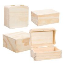 Bulk Wooden Craft Boxes At Dollartree Com For Wedding Packages