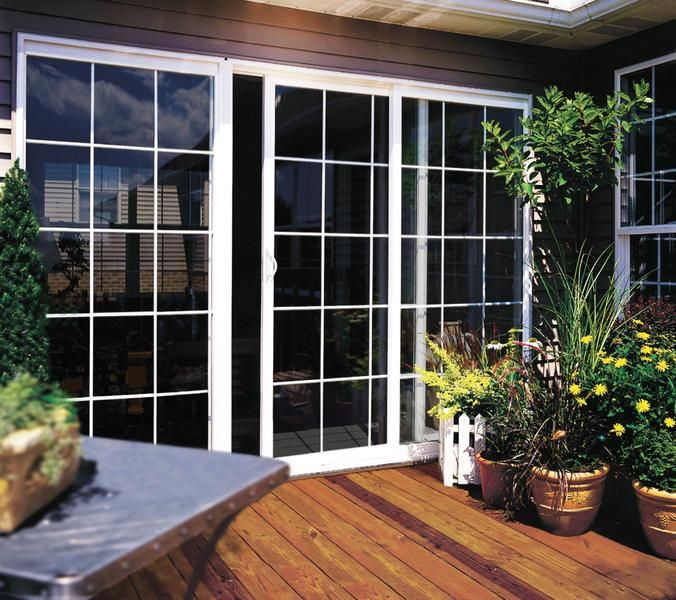 Jeld Wen Builders Vinyl Sliding Patio Doors Colonial Grilles Low E Glass