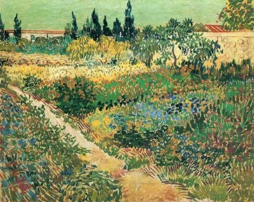 "artist-vangogh:  ""Garden with Flowers via Vincent van Gogh  Size: 91x72 cm  Medium: oil on canvas"""