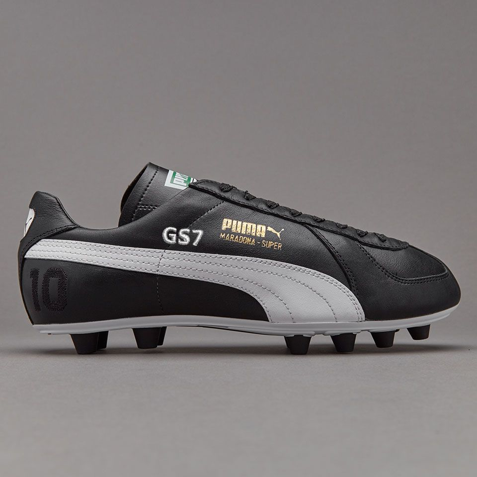 Puma Maradona Super Remake FG - Black White Team Gold  5d2a7a9cb
